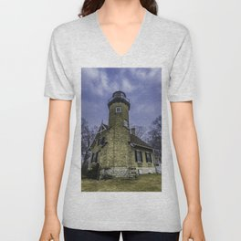 White River Lighthouse Unisex V-Neck