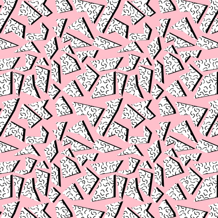 Crunk - throwback retro memphis design style minimal pattern print pink white and black Comforters