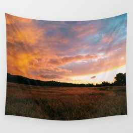Field Sunset Wall Tapestry