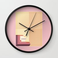 the grand budapest hotel Wall Clocks featuring The Grand Budapest Hotel · Boy with an apple by Lorena G