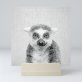 Lemur - Black & White Mini Art Print
