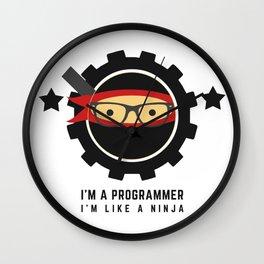 Programmer - Ninja Programmer Wall Clock