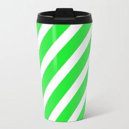 Basic Stripes Green Travel Mug