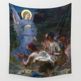The Annunciation to the Shepherds by Jules Bastien-Lepage (1875) Wall Tapestry