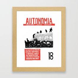 Autonomia n. 18 Framed Art Print