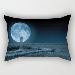 Celtic Cross and Moon Rectangular Pillow