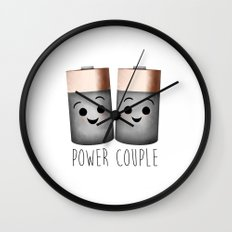 Power Couple | Batteries Wall Clock
