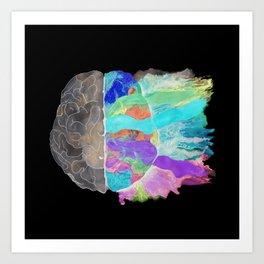 Be Creative inverse Art Print