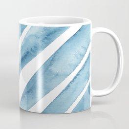 Blue Palm Leaf Crop Coffee Mug