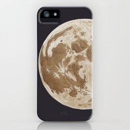 Moon Portrait 5, Linen Moon iPhone Case