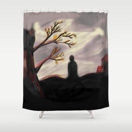 Dark Forest Scene Shower Curtain