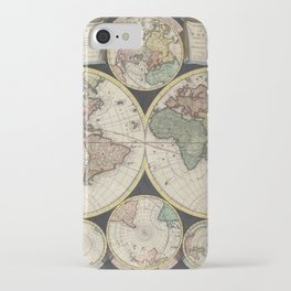 Vintage Map of The World (1696) iPhone Case