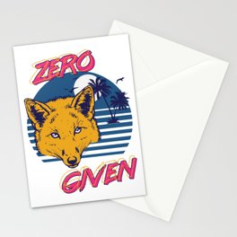 Zero Fox Given Stationery Cards