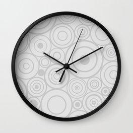 1950s MCM Pattern Circles White Wall Clock
