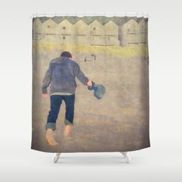 Playing In The Sand Shower Curtain