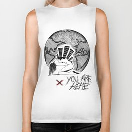 You Are (-_not-) Here Biker Tank