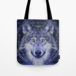 Wolf Geometry Tote Bag