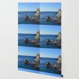 Amazing sea landcape from Genova , Italy Wallpaper