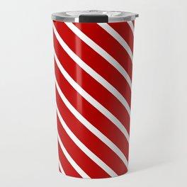 Chilli Diagonal Stripes Travel Mug