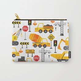 Watercolor Construction Vehicles Carry-All Pouch