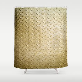 Gold Painted Metal Stylish Design Shower Curtain