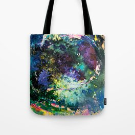 Malachite Cosmos Tote Bag