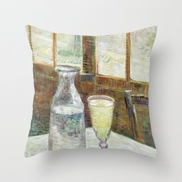 Vincent Van Gogh - Cafe Table with Absinth Throw Pillow