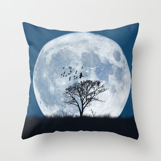 When the moon speaks (part IV) Throw Pillow