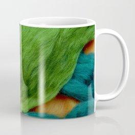 Felting Wool Abstract In Greens And Orange Coffee Mug