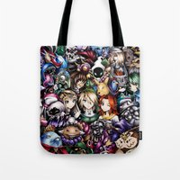 the legend of zelda Tote Bags featuring The Legend of Zelda by Sandra Ink