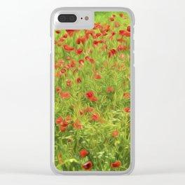 Poppyflower VII Clear iPhone Case