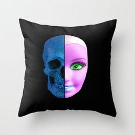 Alien Barbie Throw Pillow