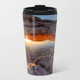 Mesa Arch Sunburst  by Lena Owens Travel Mug