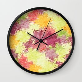 Tropical Fan Palm Paradise – Colorful #04 Wall Clock