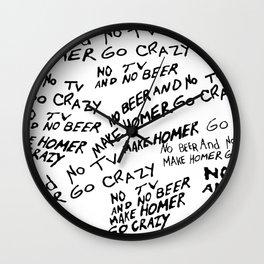 No Beer Wall Clock