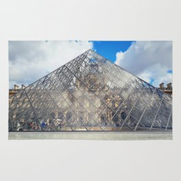 glass pyramid Rug