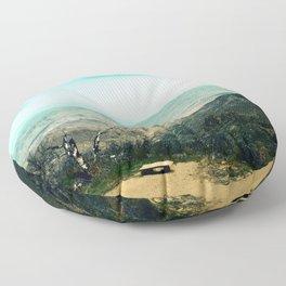 Laguna Mars Mountains Floor Pillow