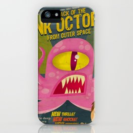 Pink octopus from outer space iPhone Case