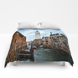 Leaning Venice Comforters