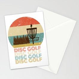 Disc Golf Discgolf Vintage Design Stationery Cards