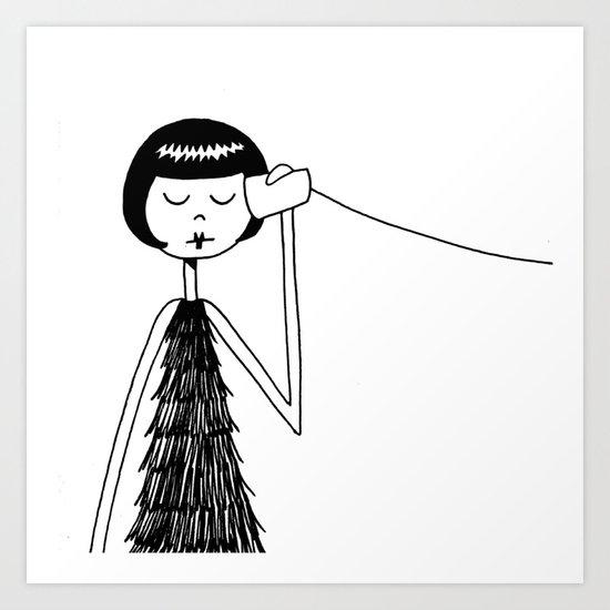 Eloise and Ramona play telephone - Part 1 Art Print