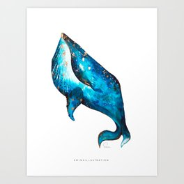 THE LETTER W for Whale Art Print