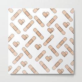 Bandage Pattern Metal Print