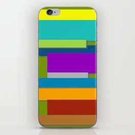 Colorful Artwork, Colorful Design, Graphic Design, Colorful Rectangles iPhone Skin