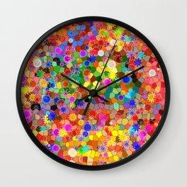 Bokeh Art Wall Clock