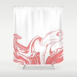 Color drop in water in motion. Ink swirling.  Shower Curtain