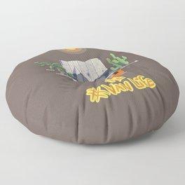 The Van Life (Around the World Vers.) Floor Pillow