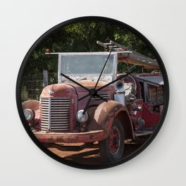 Antique Fire Truck Wall Clock