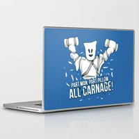 carnage Laptop & iPad Skins featuring All Carnage! by Locust Years