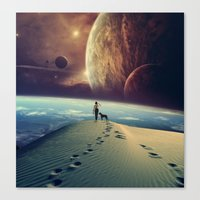 dog Canvas Prints featuring Explorer by POP.